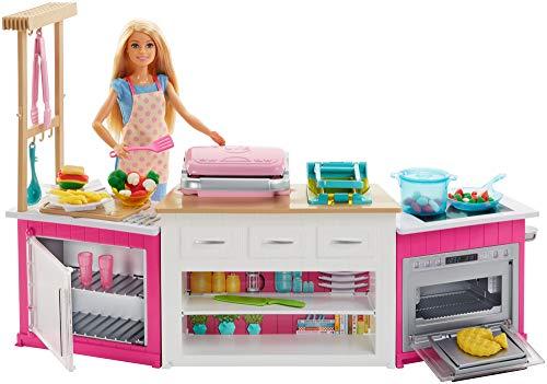"""Barbie GWY53 - """"Cooking und Baking"""" Deluxe Küche Spielset und Puppe, Abweichungen in Verpackung vorbehalten*"""