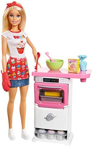 """Mattel Barbie FHP57 """"Cooking und Baking"""" Bäckerin Puppe und Spielset*"""