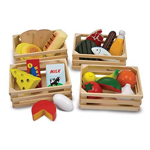Melissa&Doug Lebensmittelgruppen   Fantasiespiel   Essensspiel   2+   Geschenk für Jungen oder Mädchen