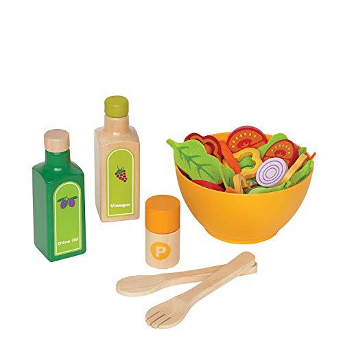 Hape E3116 - Gartensalat-Set, Zubehör für Kinderküche und Kaufladen