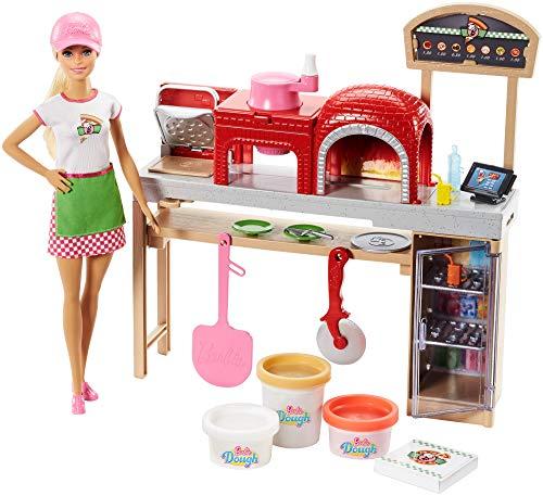 Mattel Barbie FHR09 - Barbie Cooking und Baking Pizzabäckerin Puppe und Spielset mit Spielknete Multicolour*