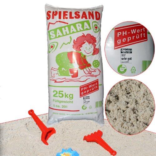 WECO Qualitäts SPIELSAND 25kg ÖKO-Test TÜV PH-Wert geprüft Sand für Sandkasten*