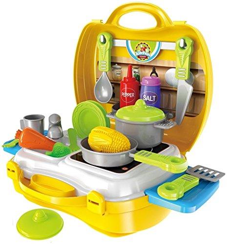 Brigamo to go im Koffer Spielzeugset, Spielzeug Küche Kinderküche Set*