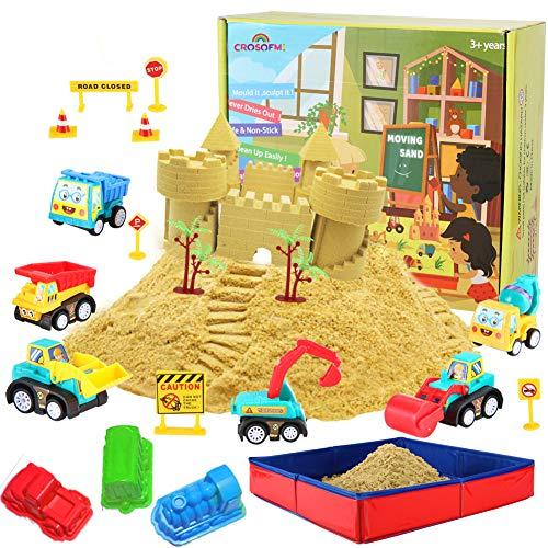 CROSOFMI Magic Sand Für Kinder Set Spielsand Faltbarer Sandkasten für Jungen Mädchen 3 4 5 6 7+ Jahre Alt*