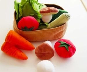 Gemüse als Kinderküchen Zubehör